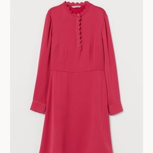 H&M Cerise scalloped edge dress